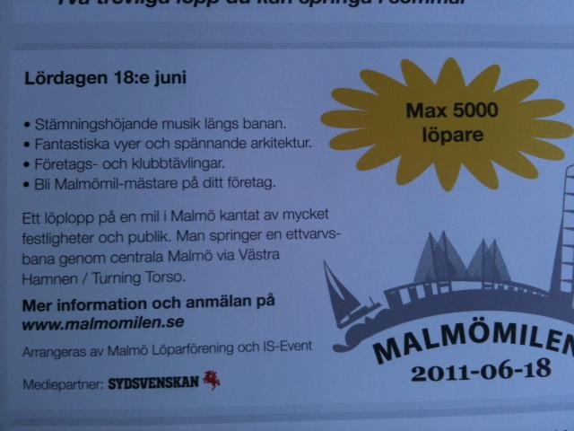 Malmömilen 18/6 2011