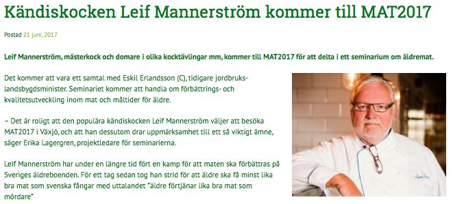 MAT2017 Leif mannerström Kajsa Asp Jonson